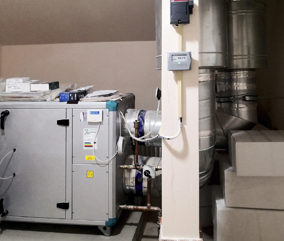 Приточно-вытяжная установка системы вентиляции с рекуператором тепла