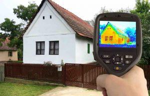 Температурный диапазон здания при обследовании тепловизором