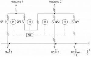 В схему включён дизельный электрический генератор