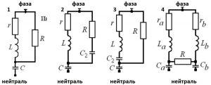 Демпфирующие фильтры: 1 — 2-го порядка, 2 — 3-го порядка, 3 — С-типа, 4 — двойного типа